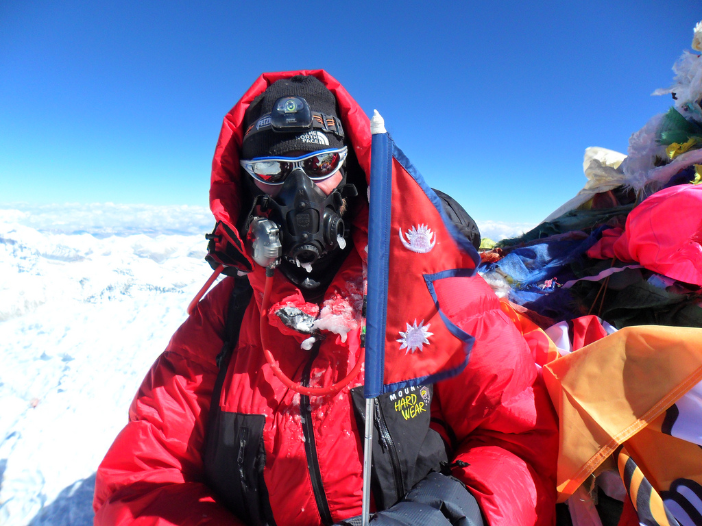 James Ketchell Summiting Everest