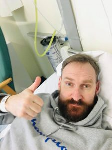 Ian in hospital!