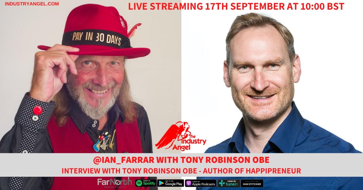 live podcast Tony Robinson OBE